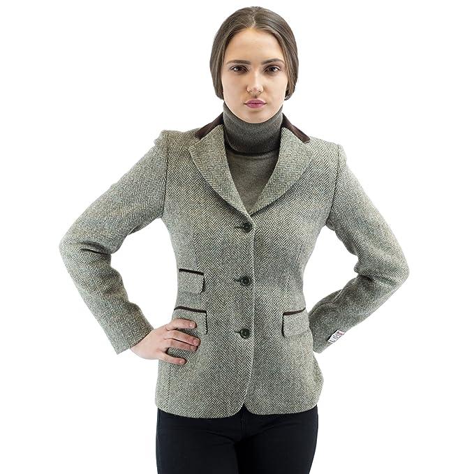 Harris Tweed - Chaqueta - chaqueta guateada - para mujer ...