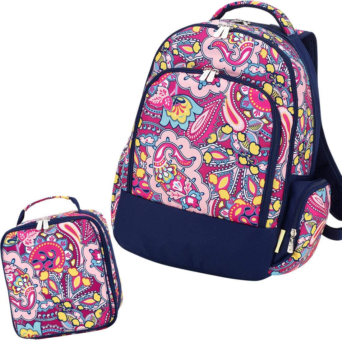 Reinforced Design Water Resistant Backpack and Lunch Bag Set, Ellison
