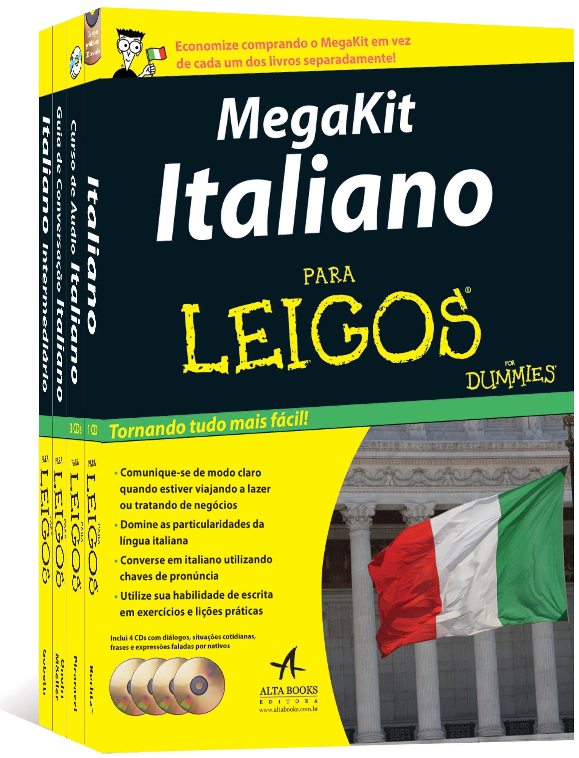 Megakit Italiano Para Leigos 9788576087625 Livros Na Amazon Brasil