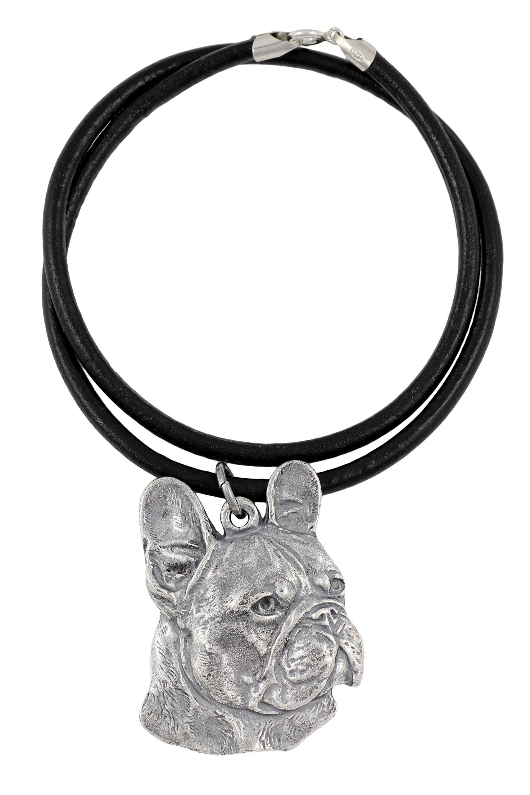 French Bulldog (Right-oriented) , Silver Hallmark 925, Dog Silver Necklaces, Limited Edition, Artdog