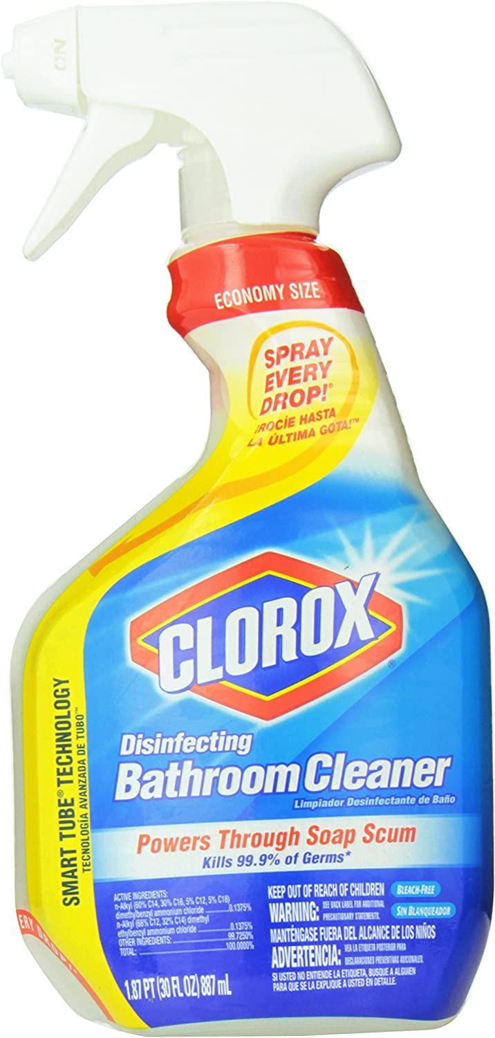 Amazon Com Clorox Disinfecting Bathroom Cleaner Pack Of 3 Health Personal Care