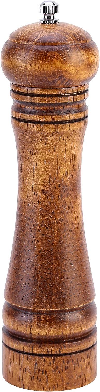 Latauar Pfefferm/ühle aus Eichenholz Pfefferm/ühle und Salz Pfeffer-Shaker mit Keramikmahlwerk verstellbar.