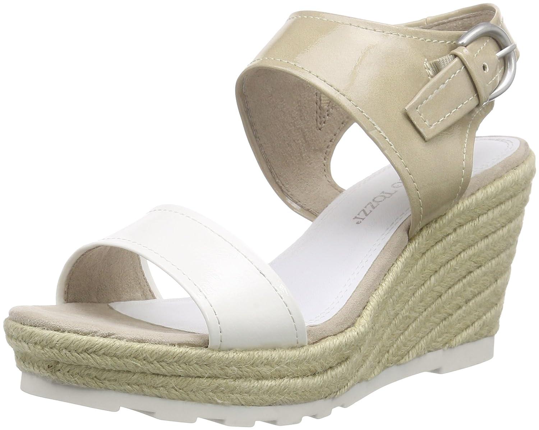 d0f18c7eafb Marco Tozzi Women s 28321 Open Toe Sandals White Size  6.5  Amazon ...