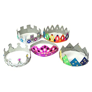 Make Your Own Crowns & Tiaras Art and Craft Activity Pack (Pack of ...