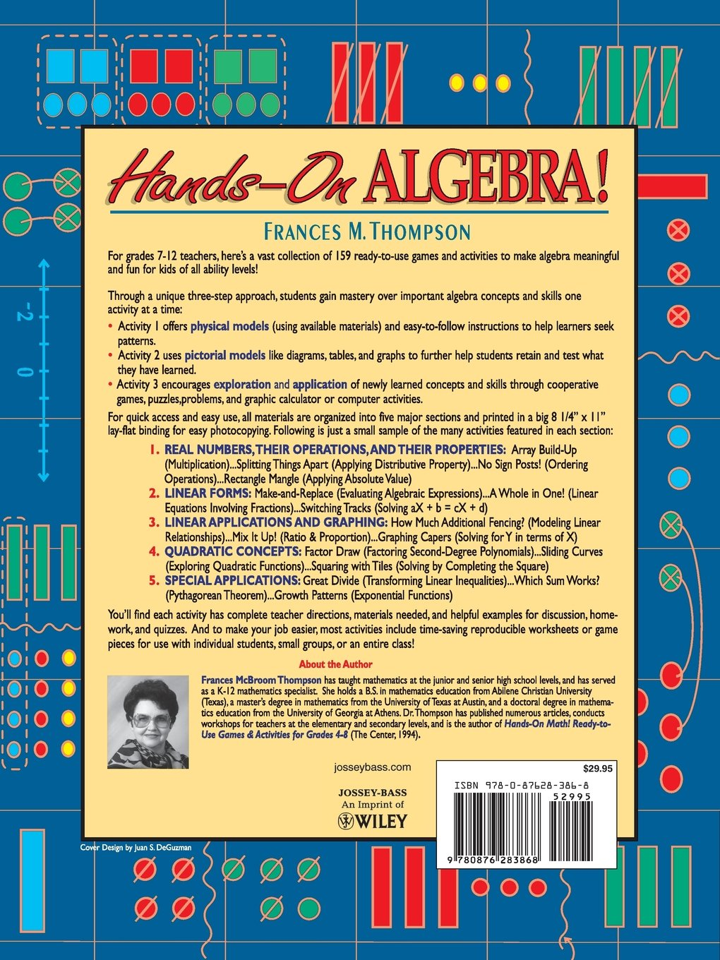 Hands-On Algebra: Ready-To-Use Games & Activities for Grades 7-12: Frances  McBroom Thompson Ed.D.: 9780876283868: Amazon.com: Books