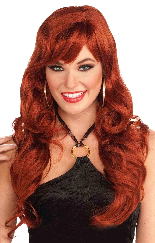 Forum Novelties Women's Delicious Long Wig Red One Size Forum Novelties Costumes 64901