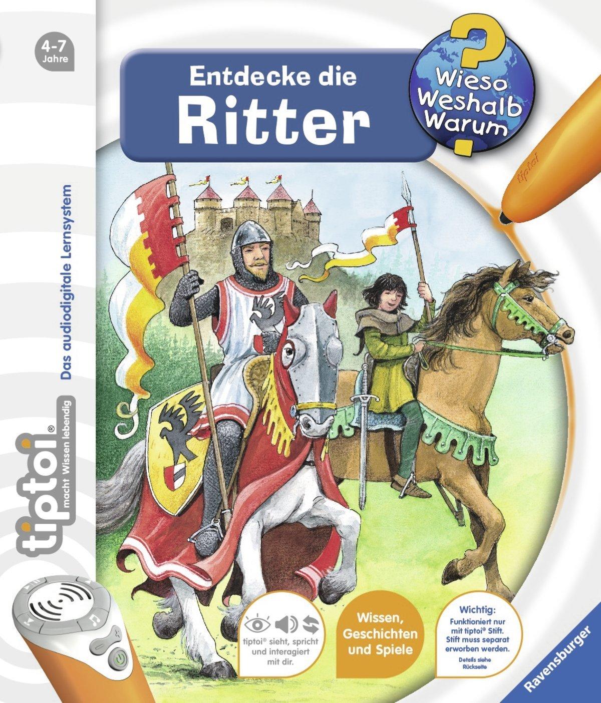 Entdecke die Ritter NEU RAVENSBURGER tiptoi® Buch Wieso Weshalb Warum?