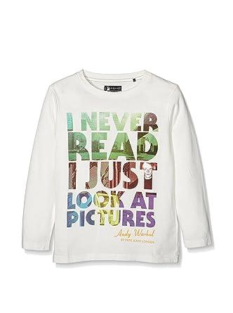 Pepe Jeans London Camiseta Manga Larga Tabel Blanco: Amazon.es ...