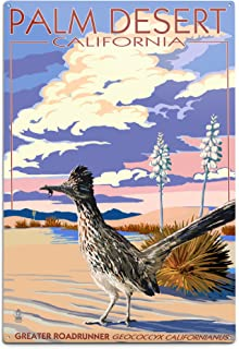 product image for Lantern Press Palm Desert, California - Roadrunner Scene 44029 (6x9 Aluminum Wall Sign, Wall Decor Ready to Hang)