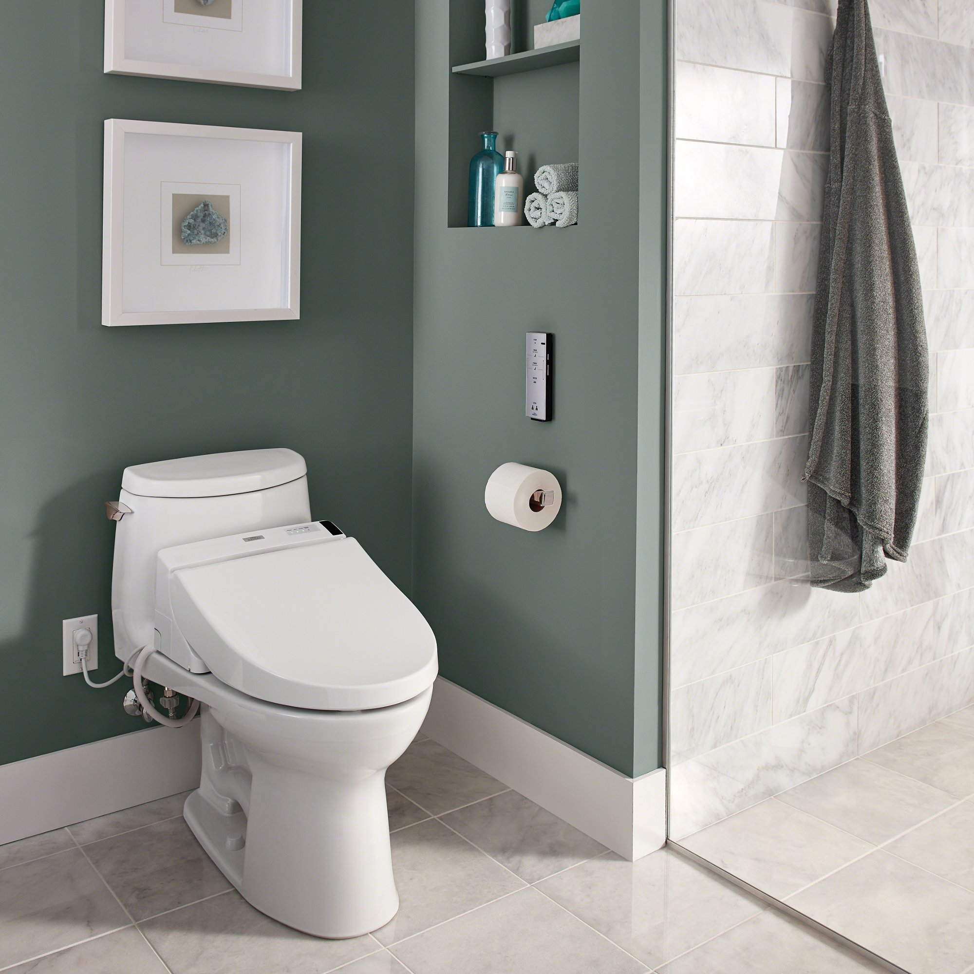 TOTO Washlet C200 Elongated Bidet Toilet Seat with PreMist, Cotton White - SW2044#01 by TOTO (Image #8)