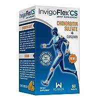 InvigoFlex® CS - Chondroitin Sulfate with Turmeric Curcumin Non GMO for Knee, Hand, Back & Hip Premium Joint Pain Relief