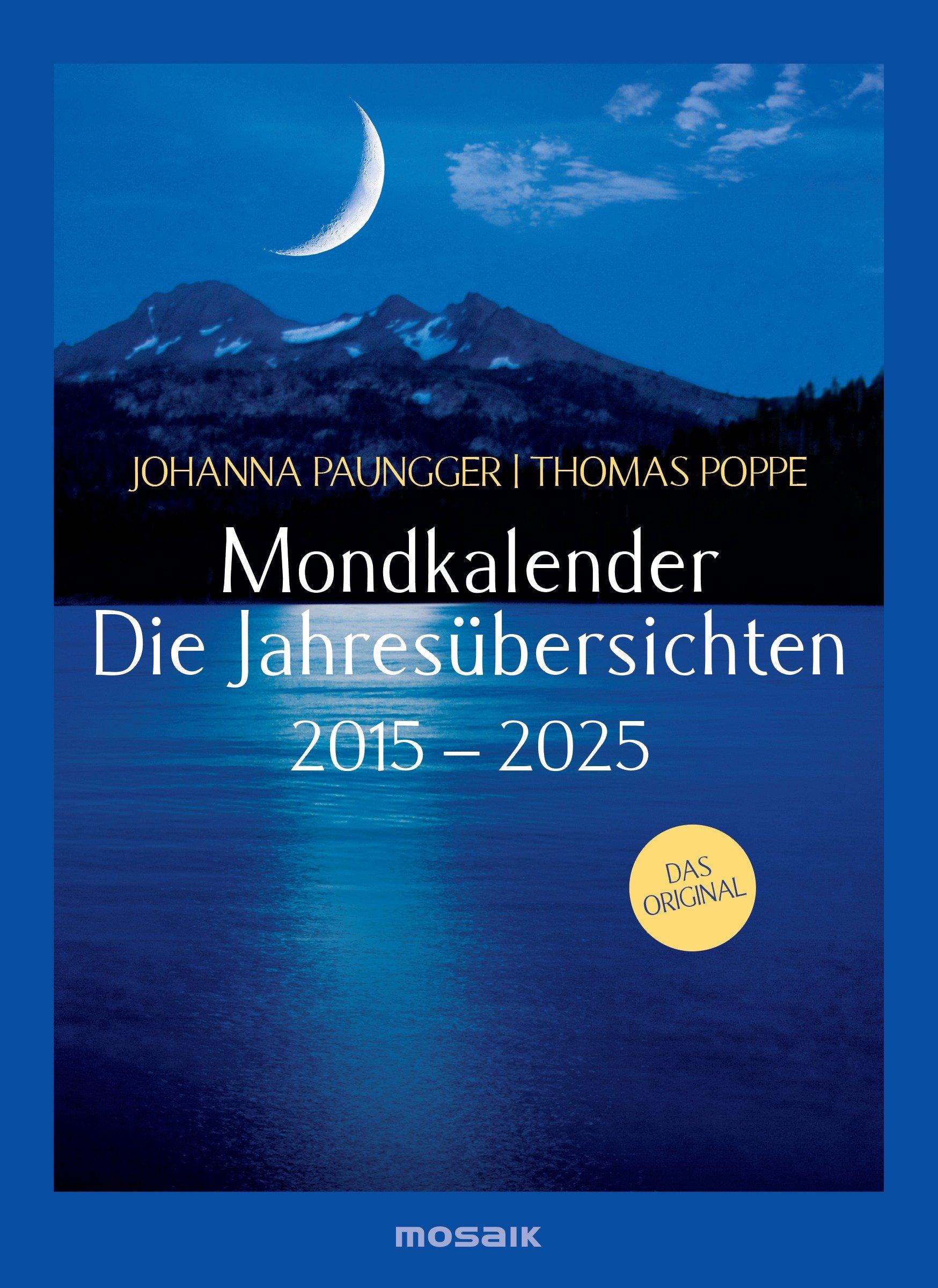 Mondkalender - die Jahresübersichten 2015-2025