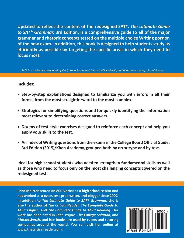 The Ultimate Guide to SAT Grammar - Livros na Amazon Brasil- 9781511944137