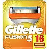 Gillette Fusion scheermesjes voor mannen, verpakking met brievenbus, 16 stuks