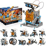 CIRO STEM Solar Robot Kit 2 Pack, 12-in-1 Science Educational Learning Building Toys Gifts for Kids Age 8-12