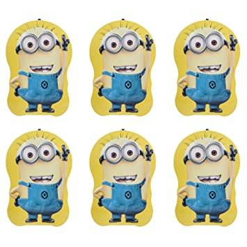 Asera 6 Pcs Minion Metal Body Money Bank Piggy Coin With Key And Lock For Kids