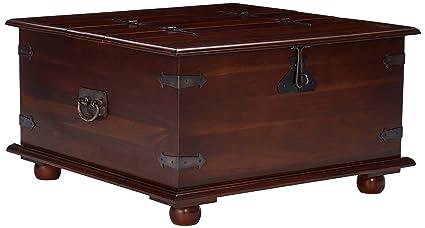 Etonnant D Art Mahogany Rustic 2 Trunk Coffee Table
