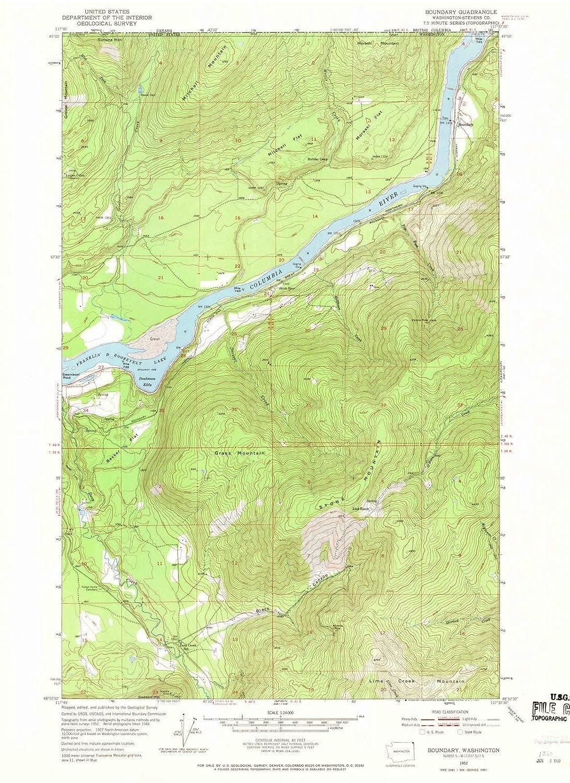 Topographic Map Washington Dc.Amazon Com Washington Maps 1952 Boundary Wa Usgs Historical