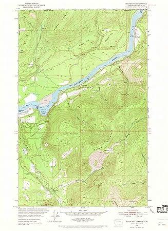 Amazoncom Washington Maps 1952 Boundary Wa Usgs Historical - Us-geologic-survey-maps