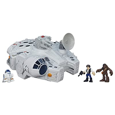 Playskool Heroes Star Wars Galactic Heroes Millennium Falcon and Figures ( Exclusive): Toys & Games
