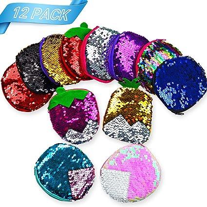 Amazon.com: Mermaid Party Favores, monederos de lentejuelas ...