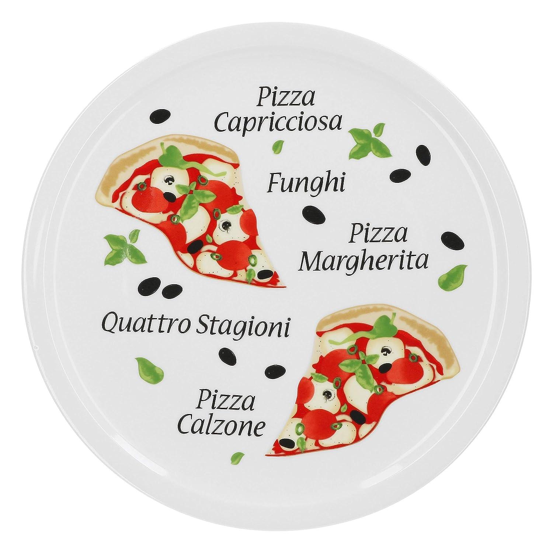/30,5/cm piatti in porcellana con schoenem Motiv/ den Grande Fame O zum anrichten adatto VAN WELL Set di piatti per pizza margherita grande/ /per pizza//Pasta
