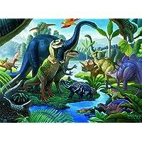 Ravensburger Land of The Giants – Rompecabezas de 100 piezas para niños – cada pieza es única, piezas encajan perfectamente
