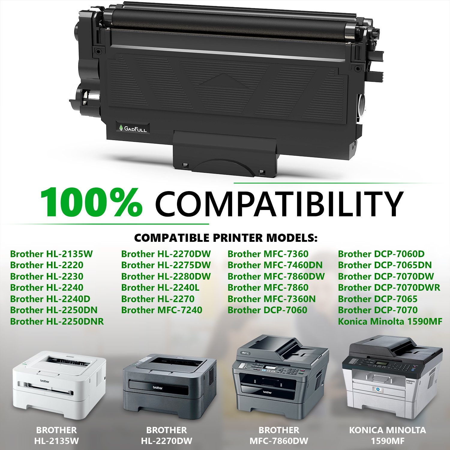 GadFull Tóner compatible con Brother HL-2135 W| 2230 | 2240 ...
