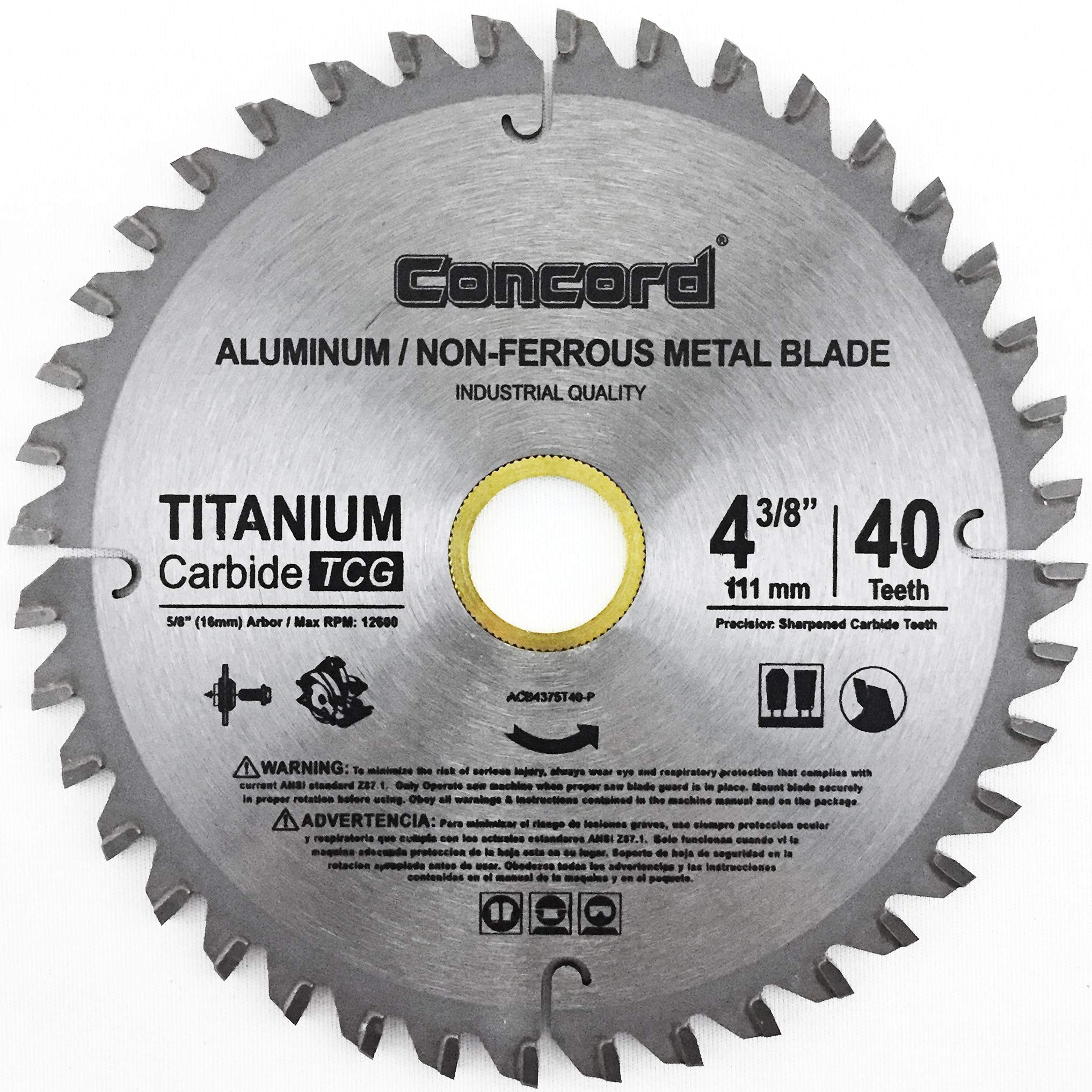 "Concord Blades ACB0825T060HP 8-1//4/"" 60 Teeth TCT Non-Ferrous Metal Saw Blade"