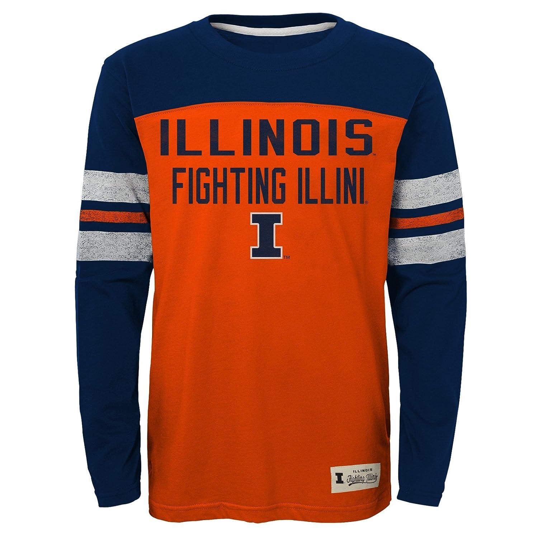 Illinois Fighting Illini Adidas Youth Legacy L//S Crew Tee