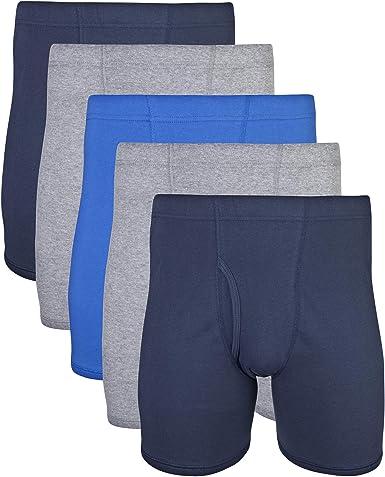 Gildan Men's Covered Waistband Boxer Briefs, Multipack
