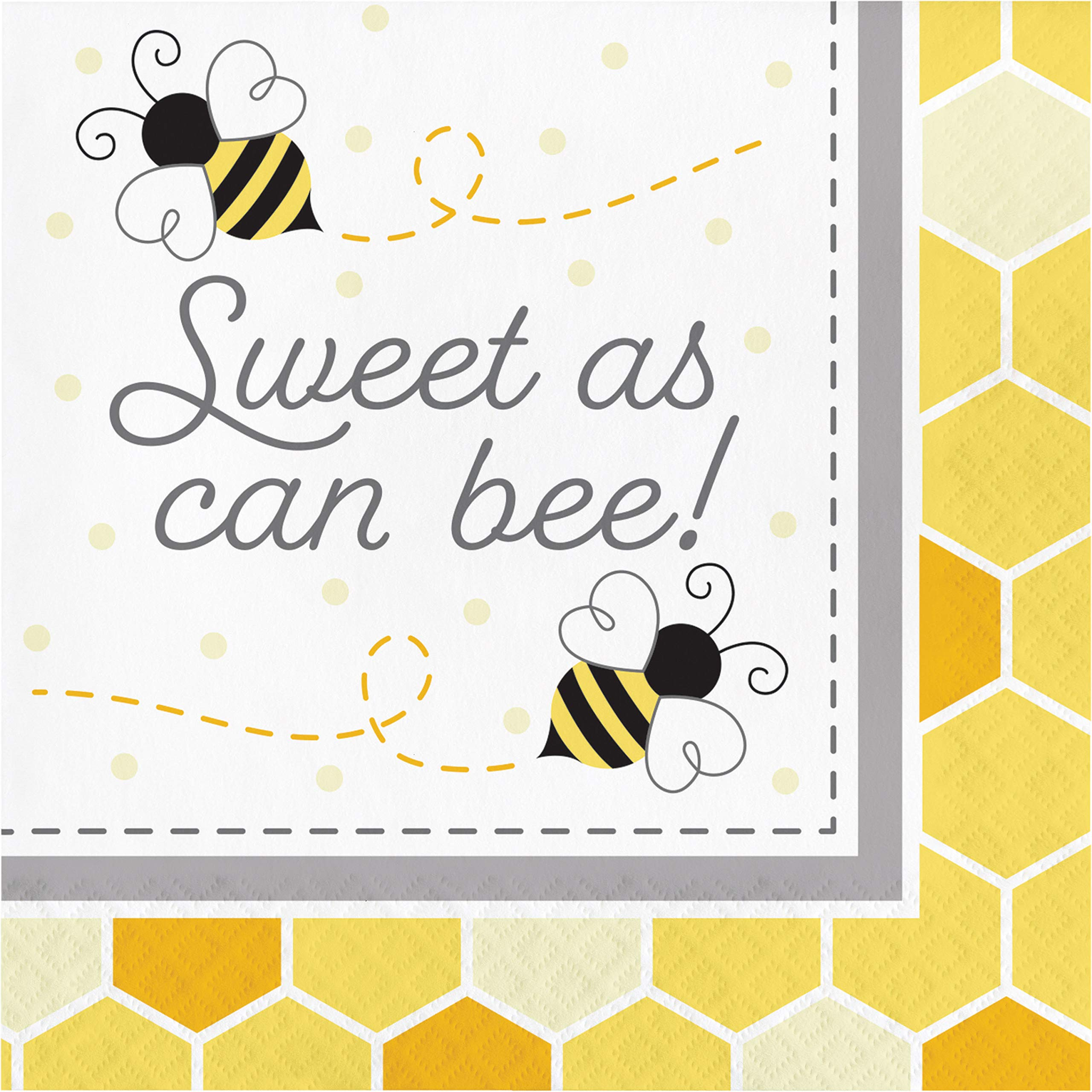 Bumblebee Baby Shower Sweet As Can Be Napkins, 48 ct