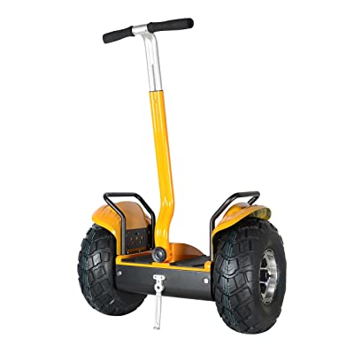 Smart Self Balance Scooter Personal Transporter 19 inch All Terrain Tires (Yellow) : Sports & Outdoors