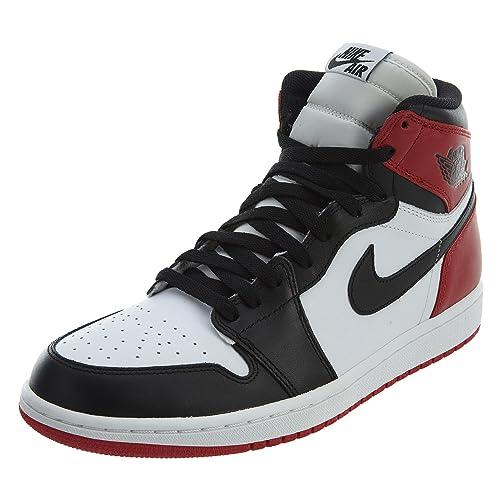 8b1ce1cdcd4cb Amazon.com | Nike Air Jordan 1 Retro High OG 555088-184 WHITE/BLACK ...
