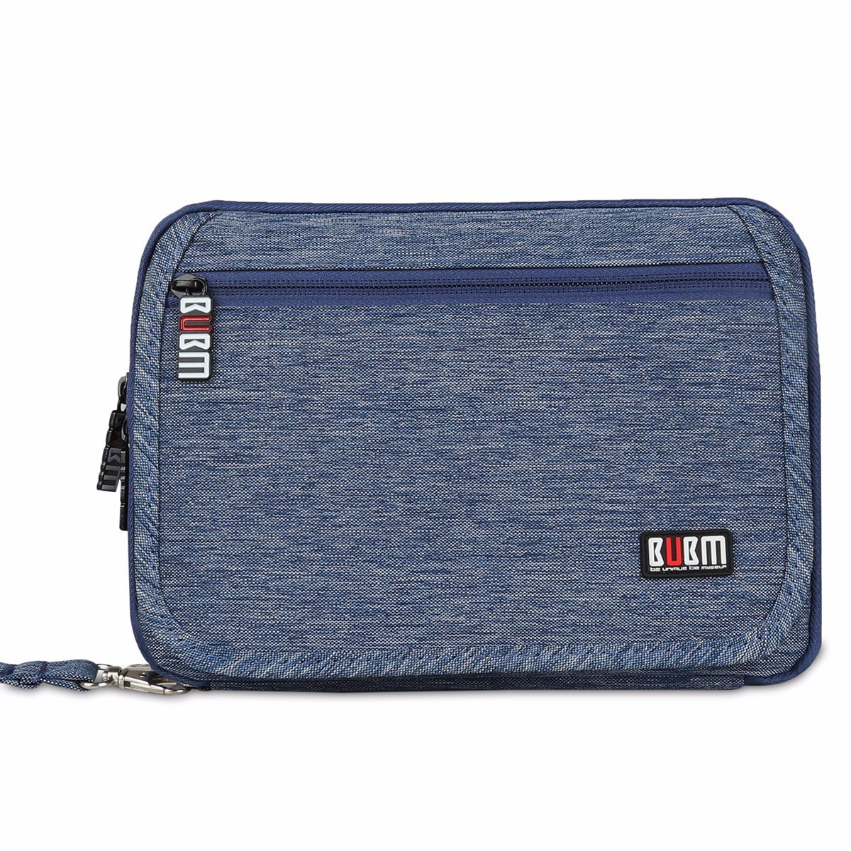 BUBM Portable Waterproof Travel Organizer,Universal Electronics Accessories Bag,Cable Stable Baby Kit Passport Holder(3 Layer-Blue)