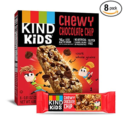 Amazon.com : KIND Kids Granola Chewy Bar, Chocolate Chip, 6 Count (Pack Of 8) : Garden & Outdoor