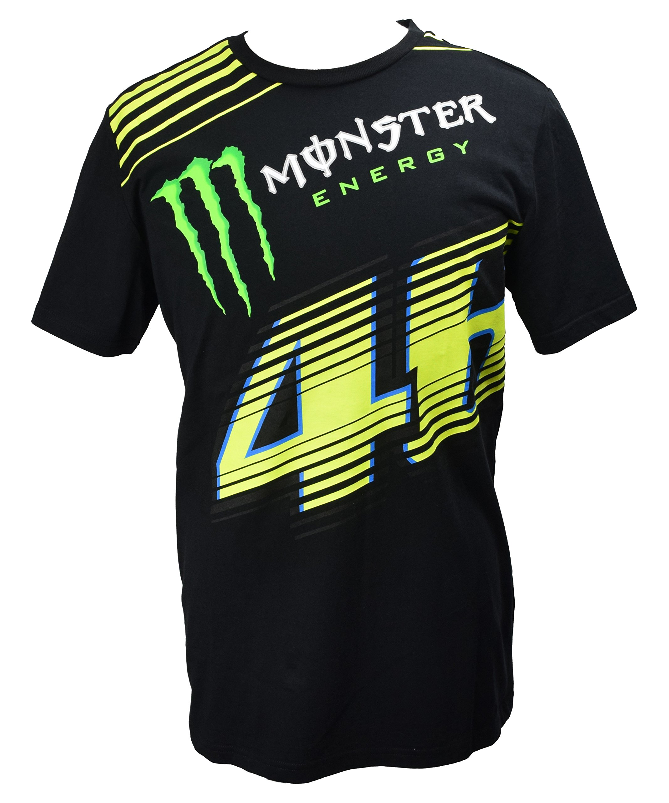 Yamaha Valentino Rossi VR46 X MONSTERENERGY short-sleeved T-shirt MONZA Black Monster Energy & amp; 46 Biggurogo size LARGE (Europe)