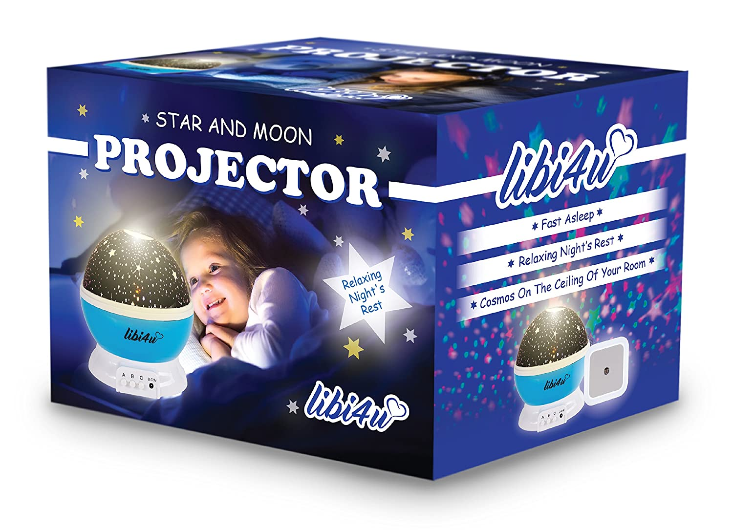 Amazon.com: Space Party And Ceiling Stars For Kids Bedroom With Star  Projector Night Light Planetarium For Baby, Toddler, Nursery And Kids, With  Bonus Led ...