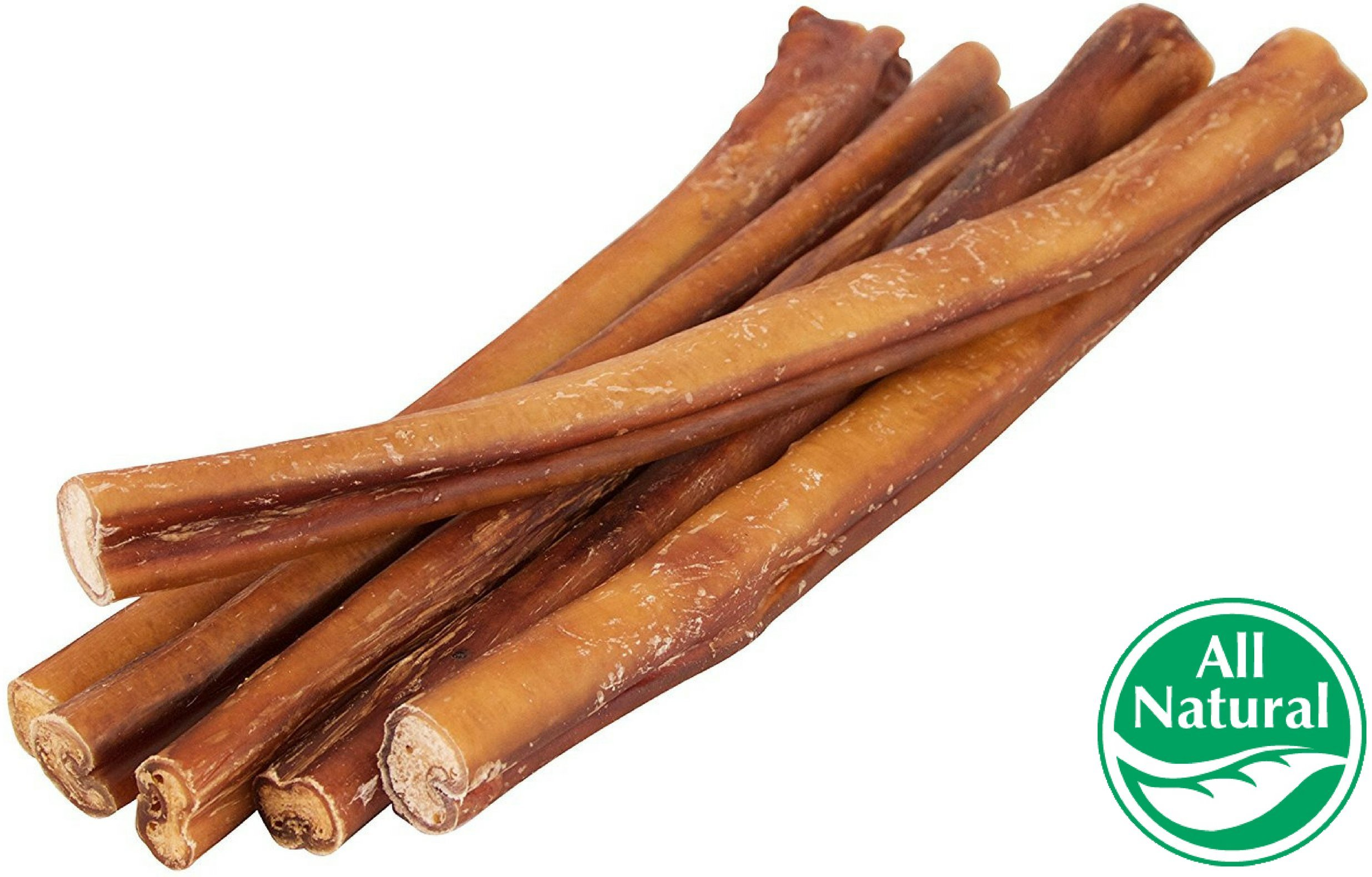 12'' Straight Bully Sticks for Dogs [Large Thickness] (50 Pack) - All Natural & Odorless Bully Bones | Long Lasting Chew Dental Treats | Best Thick Bullie Sticks for K9 or Puppies | Grass-Fed Beef