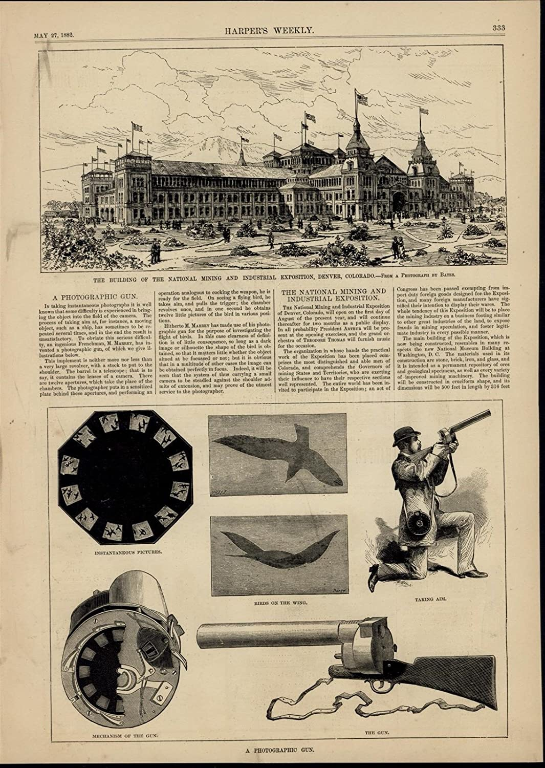 NATIONAL MINING AND INDUSTRIAL EXPOSITION BUILDING ARCHITECTURE DENVER COLORADO