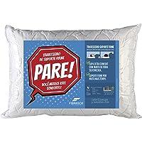 Travesseiro Suporte Firme Pare com Capa em Malha Fibrasca Branco 50x70