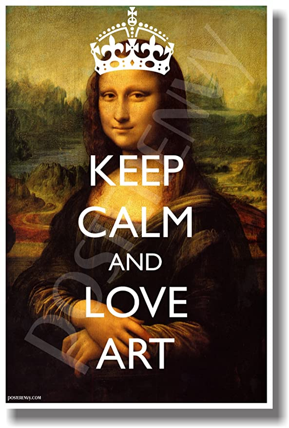 Image result for stay calm and love art mona lisa