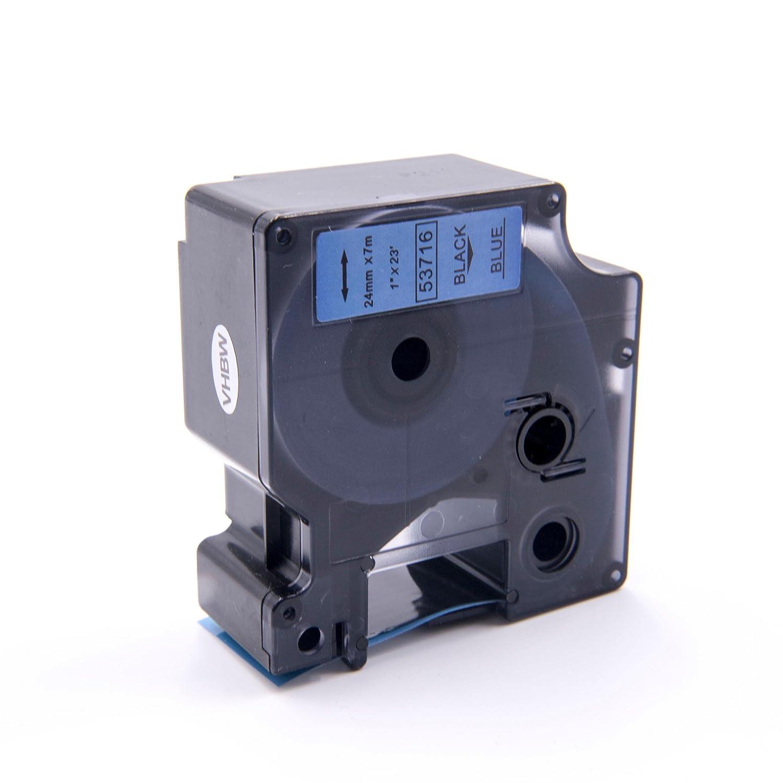 500 500TS wie Dymo D1 450D 400 53716. 450 vhbw Kassette Patronen Schriftband 24mm f/ür Dymo LabelManager 300