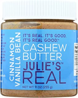 product image for Julie's Real Cinnamon Vanilla Bean Cashew Butter - 9 Ounce - Pack of 6