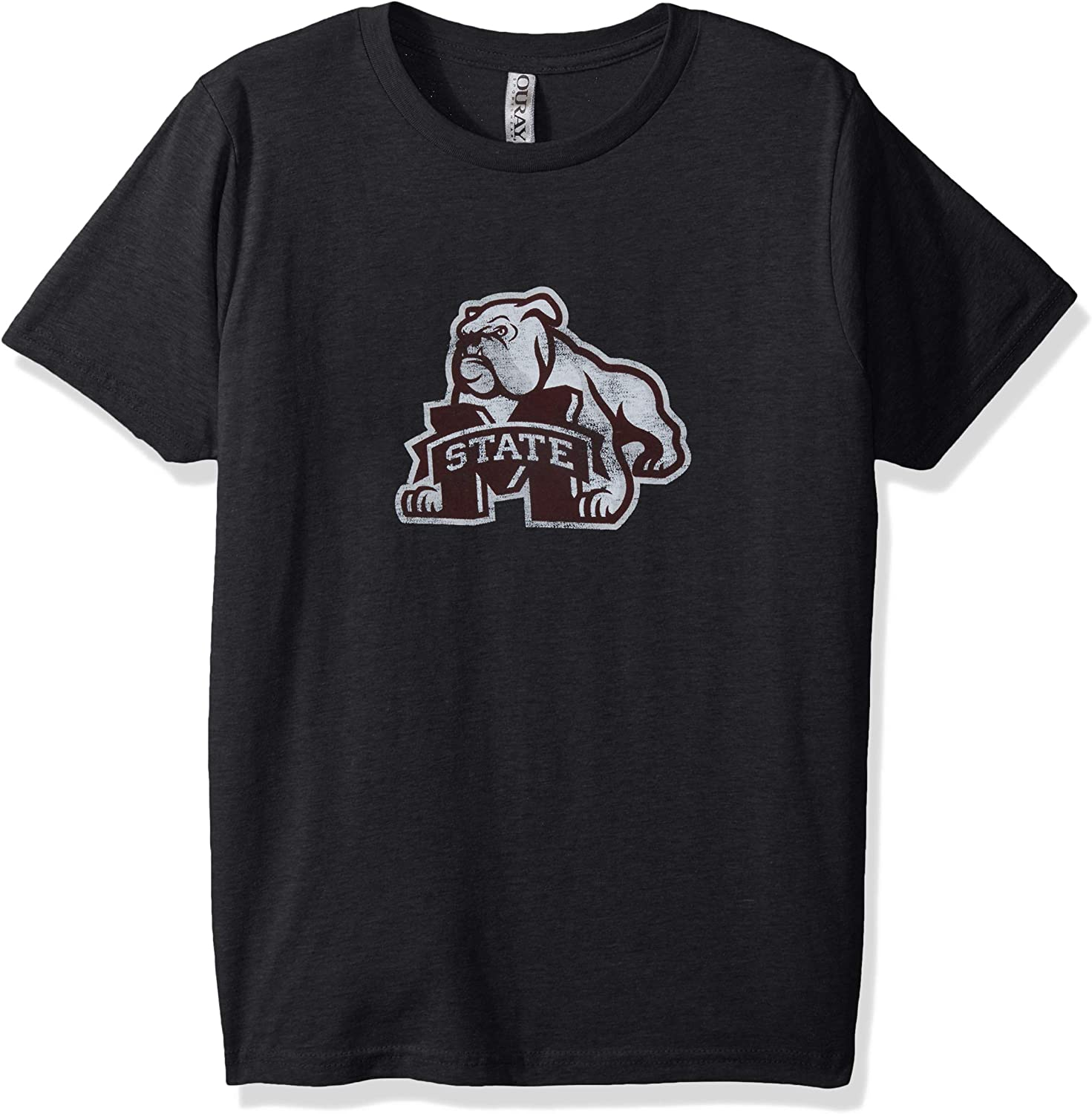 NCAA Mississippi State Bulldogs Youth Vintage Sheer Short Sleeve Tee Small Charcoal