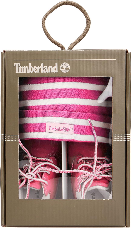 Timberland Crib Bootie with Hat Scarpe Prima Infanzia e Cappello Unisex Bimbi 0-24
