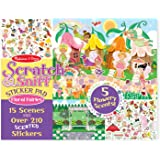 Melissa & Doug Scratch and Sniff Sticker Pad: Floral Fairies - 210+ Scented Stickers