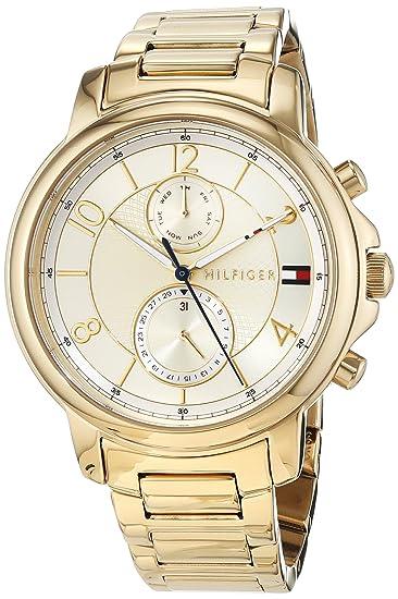Tommy Hilfiger Reloj Multiesfera para Mujer de Cuarzo con Correa en Acero Inoxidable 1781821: Amazon.es: Relojes