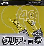クリア電球LC100V40W55/2P LC100V40W55/2P
