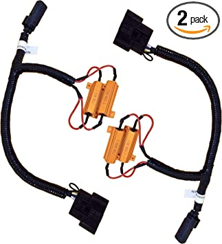 Amazon.com: Tail Light Conversion Harness Compatible With Ford F-150  (2018-2019) - Incandescent (Halogen) to LED, Wiring Harness Adapter -With Load  Resistors included -Plug and Play -No programming with Forscan: Automotive